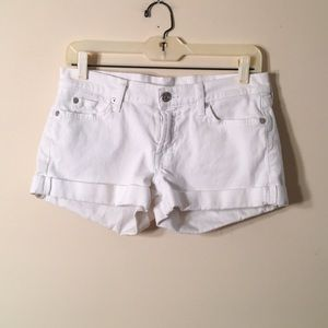 7 For All Mankind White Shorts Size 27